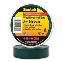 Scotch® Vinyl Electrical Color Coding Tapes 35, 66 ft x 3/4 in, Green