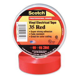 Scotch® Vinyl Electrical Color Coding Tape 35, 66 ft x 3/4 in, Red