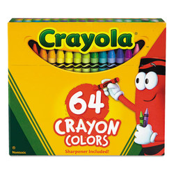 Classic Color Crayons in Flip-Top Pack with Sharpener, 64 Colors 52-064D