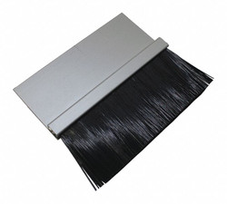 """1-1/2"""" Brush Weatherseal with 1-1/2"""" Straight Holder, 8 ft. Overall Length"""