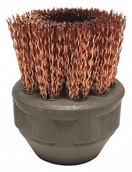 1″ Circular Bronze Brush, For Use With Mfr. No. APX390, APX500, APX750, 1 EA