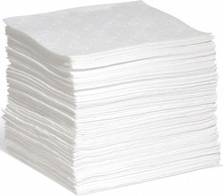 """10"""" Absorbent Pad, Fluids Absorbed: Oil-Based Liquids, Heavy, 4.7 gal., 100 PK"""