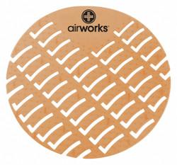 "Air Works Urinal Screen, Round, Cinnamon, PK60 6-7/8""   AWUS006"