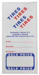 "3"" x 6"" Paper with Adhesive Backing Adhesive Tire Label, Roll, White; PK500"