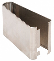 """— Shoe SS Split 08 Wx 3H for Steel Partition, 3""""H x 8''W x 1-1/4"""" Thickness"""