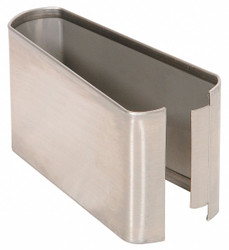 """— Shoe SS Split 05W x 3H for Steel Partition, 3""""H x 5""""W x 1-1/4"""" Thickness"""