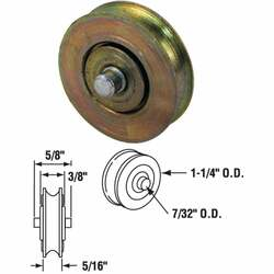 Prime-Line 1-1/4 In. Steel Patio Door Roller with Built-In Axle (2-Count) D 1765
