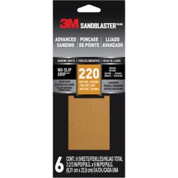 3M 220 Grit Sandpaper 11220-G-6