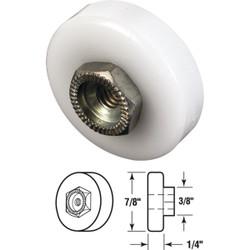 Prime-Line 7/8 Dia. x 3/8 In. W. Flat Shower Door Roller (2-Count) M 6003