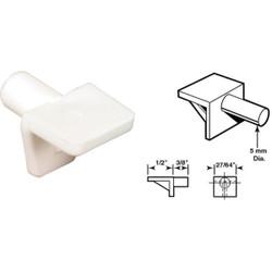 Prime-Line 5mm White Plastic Mini Shelf Support (8 Count) U 10142