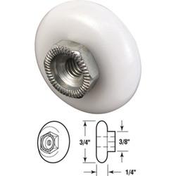 Prime-Line 3/4 In. x 3/8 In. Oval Shower Door Roller (2-Count) M 6000
