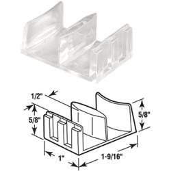Prime-Line Nylon Shower Door Bottom Guide (2-Count) M 6058