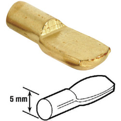 Prime-Line 5mm Brass Metal Shelf Support Peg (8-Count) U 10165
