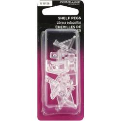 Prime-Line 1/4 In. Clear Plastic Shelf Support (8 Count) U 10136