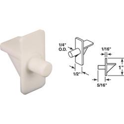 Prime-Line 1/4 In. White Plastic Shelf Support (8 Count) U 10138
