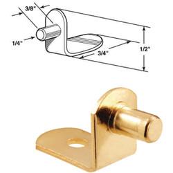 Prime-Line 1/4 In. Brass Metal Shelf Support (8-Count) U 10168