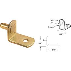 Prime-Line 5mm Brass Metal Shelf Support (8-Count) U 10170