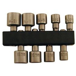 Best Way Tools 9-Piece 1/4 In. Drive Metric Nutdriver Bit Set 39522