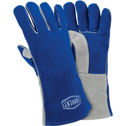 Ironcat 14.25 In. Blue/Gray XL Welding Gloves 9051/XL
