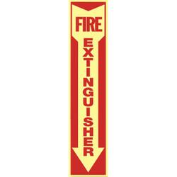 Fire Extinguisher Arrow Glow-in-the-Dark Vinyl Sign