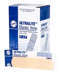"HART Health® UltraLite™ Light Woven Elastic Adhesive Bandages, 3/4"" x 3"", 50/Box"