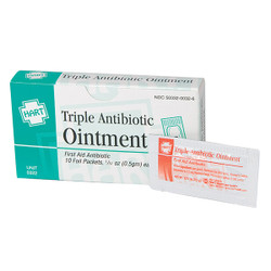 HART Health® Triple Antibiotic Ointment, 0.5 g, 10/Box