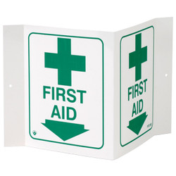 """""""First Aid"""" 3-D Sign"""