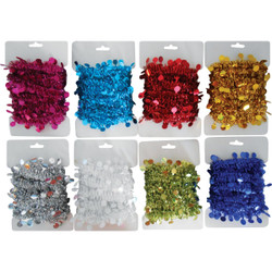 Youngcraft 8 Ft. Assorted Color Package Garland PKG-DIB