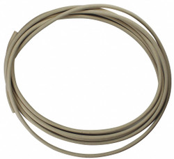 "E. James Round Buna-N Rubber Cord Stock, 3/16"" Dia., 10 Ft., 70 Durometer, White"