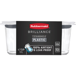 Rubbermaid Brilliance 4.7 C. Clear Rectangle Food Storage Container 2024349