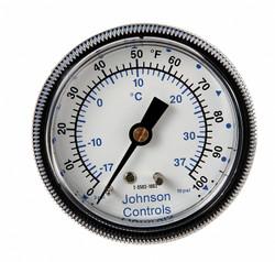 "Pneumatic Temperature Indicator, 0° to 100°F, 3 to 15 psi, 1/8"" NPT"