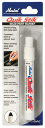 Quik Stik Markers, 11/16 in X 6 in, White, Carded