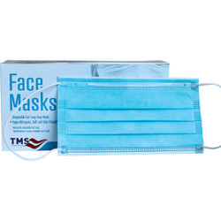 Apex Industrial Solutions Disposable Face Masks, Blue, 50/Pkg