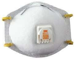3M N95 8511 Particulate Respirators, Half Facepiece, N95 Particulate (Box of 10) pack of 8