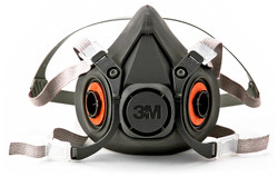 3M Half Facepiece Reusable Respirator 6300/07026(AAD), Respiratory Protection, Large (Pack of 1) Pack of 2