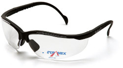 Pyramex V2 Readers Safety Eyewear, Clear +2.0 Lens With Black Frame pack of 3