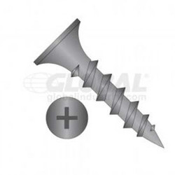 "#6 x 1"" Drywall Screw - Phillips Bugle Head - Steel - Black Phosphate Finish - U"