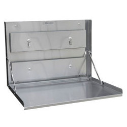 Omnimed Standard Wall Desk, Stainless Steel