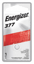 Energizer Button Battery, Silver, 1.5VDC, 377   377BPZ