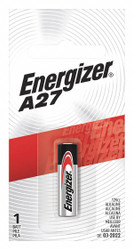 Energizer A27 Battery,  12VDC,  Alkaline,  Button,  23mAh   Camera A27BPZ