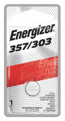 Energizer Button Battery, Silver, 1.5VDC, 357   357BPZ