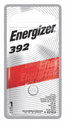 Energizer Button Battery, Silver, 1.5VDC, 392   392BPZ
