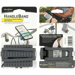 Nite Ize HandleBand 0.9 In. to 2 In. Bicycle Handlebar Gray Phone Holder