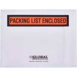 """Global Industrial Packing List Envelopes - """"Packing List Enclosed"""" 4-1/2"""" x 5-1/"""