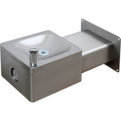 Global Industrial Outdoor Wall Mounted Drinking Fountain, SS