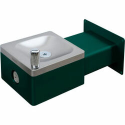 Global Industrial Outdoor Wall Mounted Drinking Fountain, Green