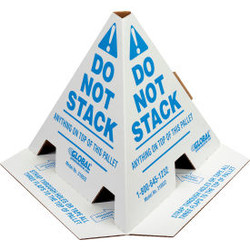 """Global Industrial """"Do Not Stack"""" Pallet Cones, 50 Pack"""