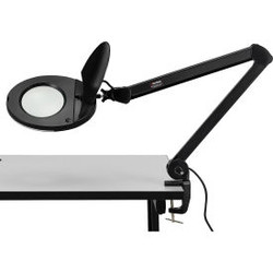 Global Industrial 3 Diopter LED Magnifying Lamp, Black