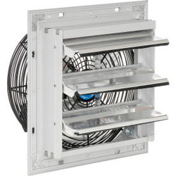 """10"""" Exhaust Fan with Shutter - Direct Drive - 1/30 HP - 3 Speed"""