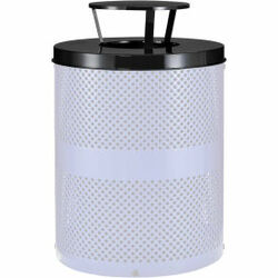 Global Industrial Rain Bonnet Lid - 36 Gallon Black